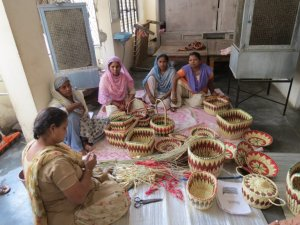 bhadohi grass weaving