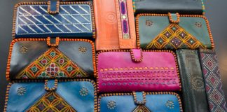 Leather purses with Kutch Embroidery