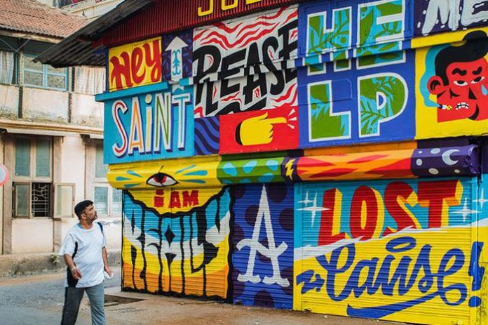 colorful walls of hyderabad