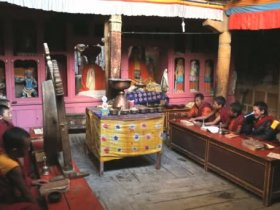 The revered texts are chanted mainly by the Buddhist Lamas