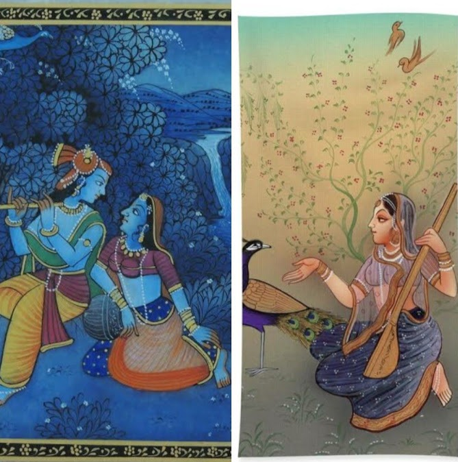 The Bani Thani and Radha Krishna miniatures