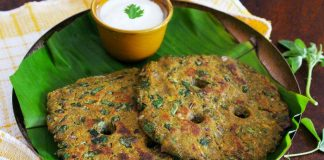 thalipeeth with curd