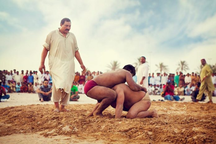 A typical Indian Pehlwani Match