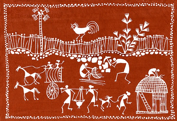 The Warli tribe is one of the largest in India, located outside of Mumbai